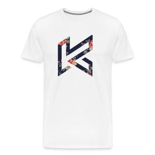 Black Floral Centred Logo - Men's Premium T-Shirt