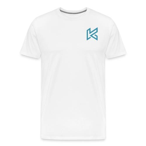 Light Blue Corner Logo - Men's Premium T-Shirt