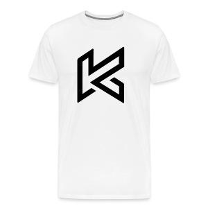 Black Centred Logo - Men's Premium T-Shirt