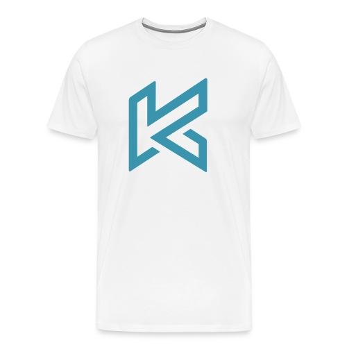 Light Blue Centred Logo - Men's Premium T-Shirt