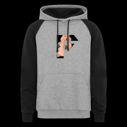 black and greyhoodie - Colorblock Hoodie