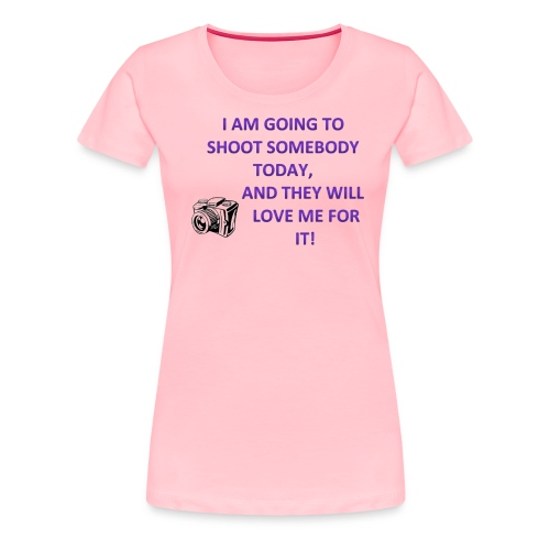 Cute Photographer T-shirt (for quirky, fun and cut - Women's Premium T-Shirt