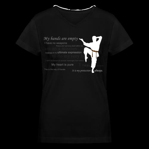 Premium Women V-neck Tee / Normal fit - Women's V-Neck T-Shirt