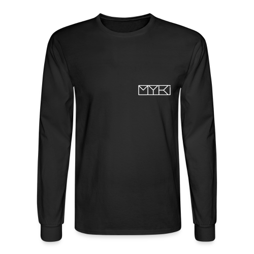 MYKI WHITE LOGO LS TEE - Men's Long Sleeve T-Shirt