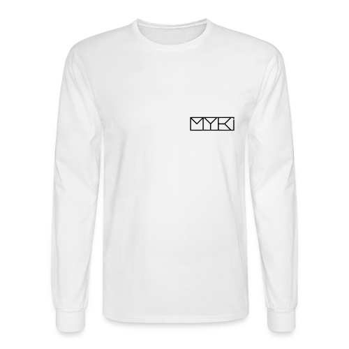 MYKI BLACK LOGOS LS TEE - Men's Long Sleeve T-Shirt