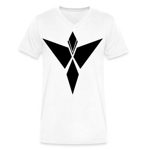 MYKI BLACK LOGO VNECK - Men's V-Neck T-Shirt by Canvas
