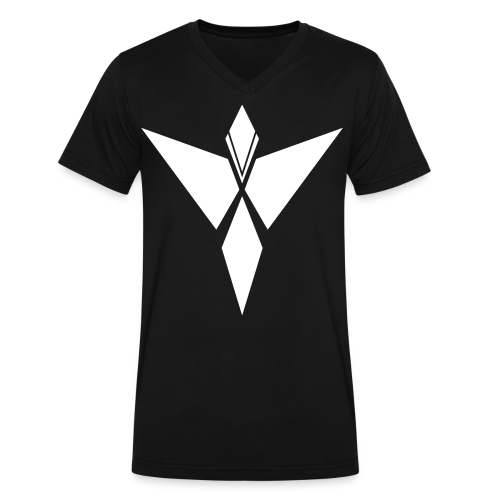 MYKI WHITE LOGO VNECK - Men's V-Neck T-Shirt by Canvas