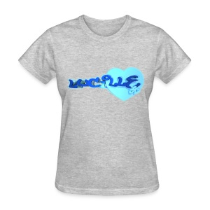 Blox3dnyc.com Heart2 design for lucille - Women's T-Shirt