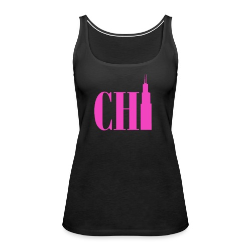 Chicago - Neon Pink Sears Tower - Women's Premium Tank Top