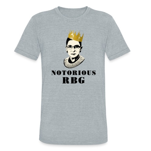 Notorious RBG on women in charge - Unisex Tri-Blend T-Shirt