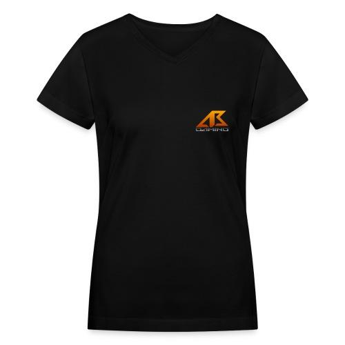 AB Gaming Womens V-Neck T-Shirt - Women's V-Neck T-Shirt