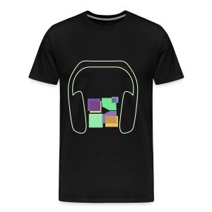 Men: Premium Glow In The Dark Music To Me Is... T-Shirt - Men's Premium T-Shirt