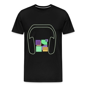 Men: Premium Glow In The Dark Music To Me Is... T-Shirt - Men's Premium T-Shirt