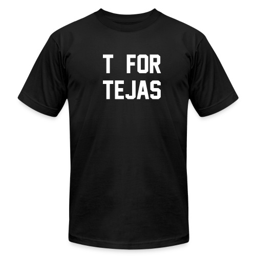 T for Tejas - Men's T-Shirt by American Apparel