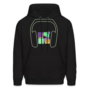 Men: Glow In The Dark Music To Me Is... Hoodie - Men's Hoodie