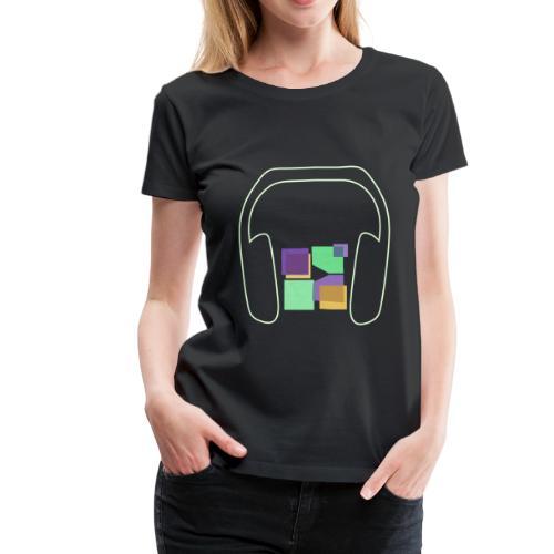 Women: Premium Glow In The Dark Music To Me Is... T-Shirt - Women's Premium T-Shirt