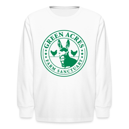 Kids Long Sleeve T-Shirt - Green Festus Logo - Kids' Long Sleeve T-Shirt