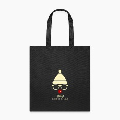 Christmas Hipster Rudolph Tote Bag