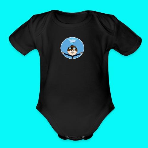 The Diamond Minecart Babby T-Shirt - Organic Short Sleeve Baby Bodysuit