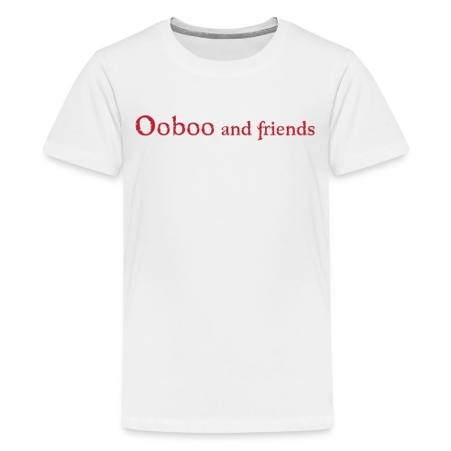 Ooboo and Friends - Logo Red - Kids' Premium T-Shirt