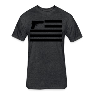 Pistol Flag - Fitted Cotton/Poly T-Shirt by Next Level