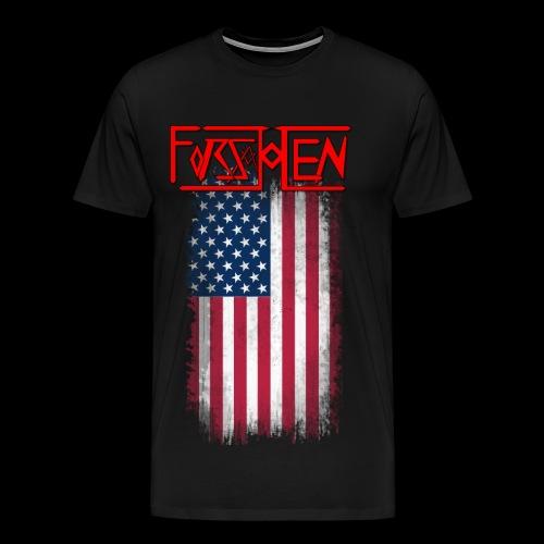 Forsakken Vintage Flag - Men's Premium T-Shirt