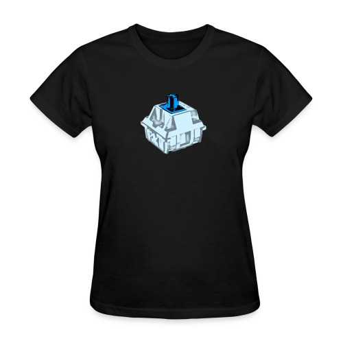 Ladies Blue Switch with Clear Housing - Women's T-Shirt