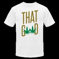 T-Shirts ~ Men's T-Shirt by American Apparel ~ That Good Metallic Gold