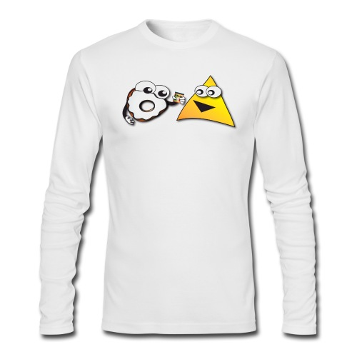 Donut and Tortilla - Fresh White - Long Sleeve - Men's Long Sleeve T-Shirt by Next Level