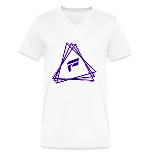 Flash Purple Triangle V Neck - Men's V-Neck T-Shirt by Canvas