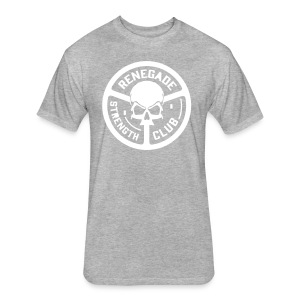 Grey Renegade Tri-Blend T-Shirt - Fitted Cotton/Poly T-Shirt by Next Level