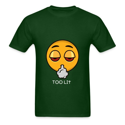 Too Lit Emoji  - Men's T-Shirt
