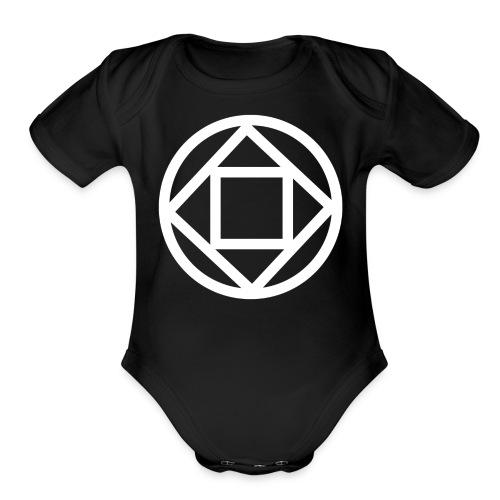 Disquarcle (white)(Baby) - Organic Short Sleeve Baby Bodysuit
