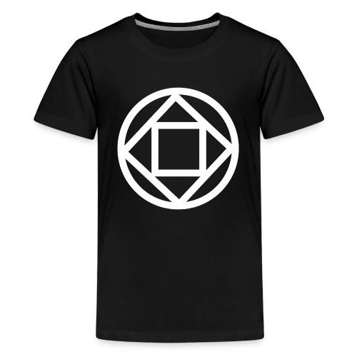 Disquarcle (White)(Kid's) - Kids' Premium T-Shirt