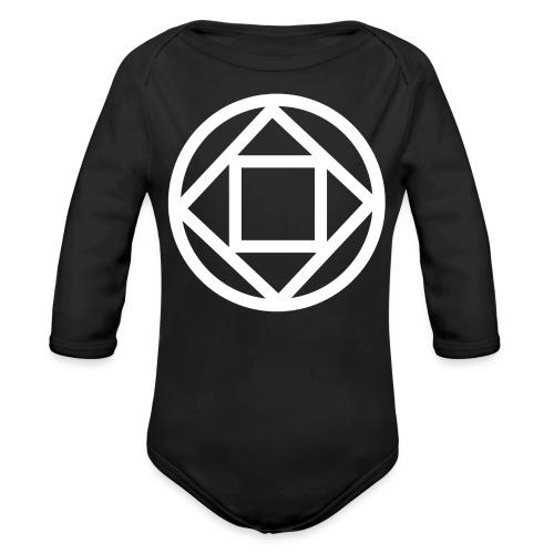 Disquarcle (white)(Baby)(Long Sleeved) - Organic Long Sleeve Baby Bodysuit