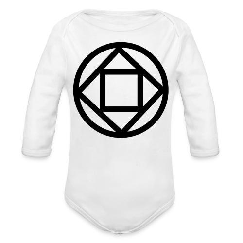Disquarcle (Black)(Baby)(Long Sleeved) - Organic Long Sleeve Baby Bodysuit