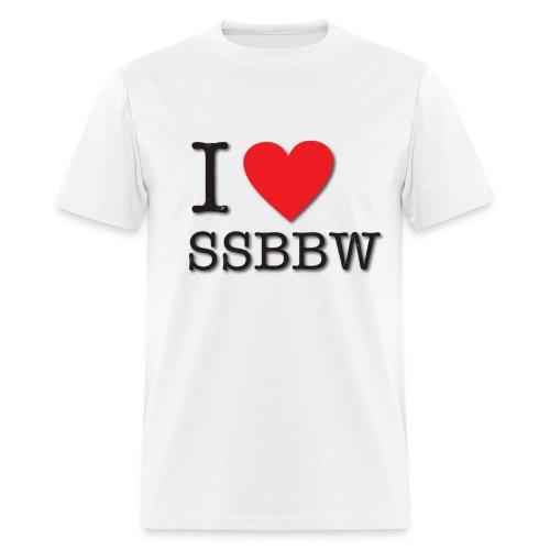 I Love BBW - Men's T-Shirt