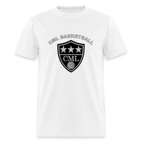 Men's CML Basketball Silver and Black Logo T-Shirt - Men's T-Shirt