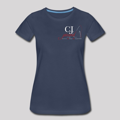 Women's Premium T-Shirt C.J. PINARD LOGO Navy - Women's Premium T-Shirt