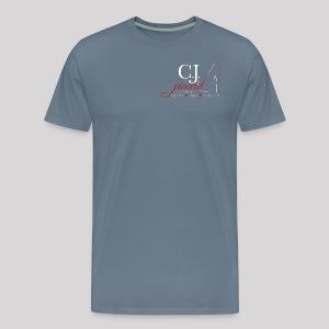 Men's Premium T-Shirt C.J. PINARD LOGO Steel Blue - Men's Premium T-Shirt
