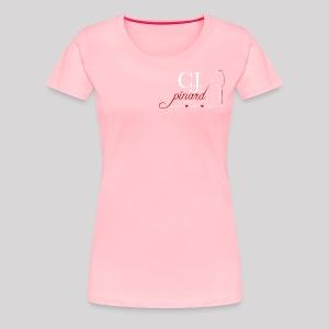 Women's Premium T-Shirt C.J. PINARD LOGO Pink - Women's Premium T-Shirt