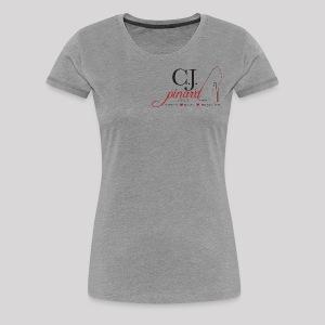 Women's Premium T-Shirt C.J. PINARD LOGO Gray - Women's Premium T-Shirt