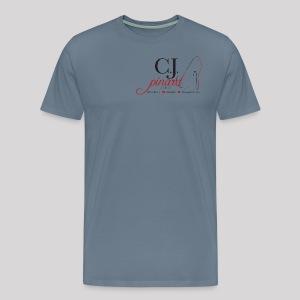 Men's Premium T-Shirt C.J. PINARD LOGO Light Blue - Men's Premium T-Shirt