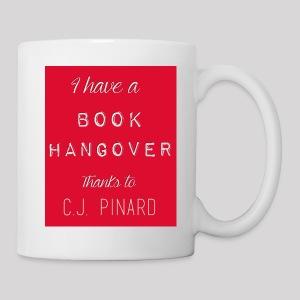 White Ceramic Mug I HAVE A BOOK HANGOVER Red - Coffee/Tea Mug