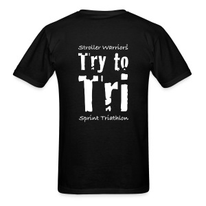 Unisex Black Try to Tri Tee - Men's T-Shirt