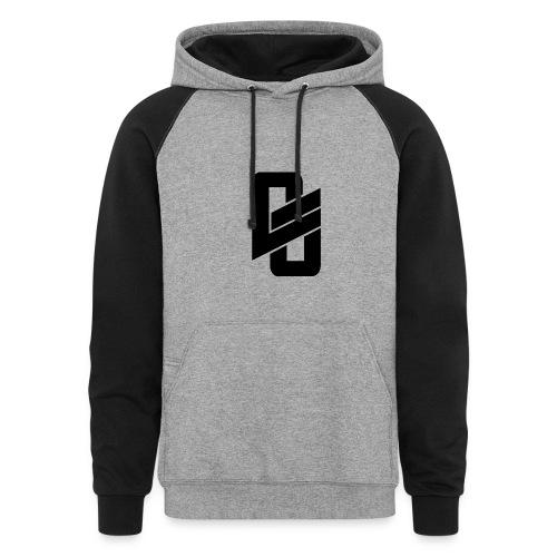 Black Sweatshirt w/ Small's Logo - Colorblock Hoodie