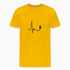 heartbeat current line plug power socket connect p T-Shirts