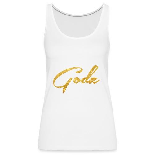 Godz Tank (WHITE) - Women's Premium Tank Top