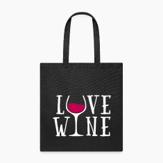 Love Wine Quote Bags & backpacks