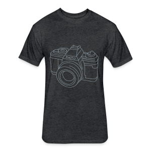 Camera - Fitted Cotton/Poly T-Shirt by Next Level